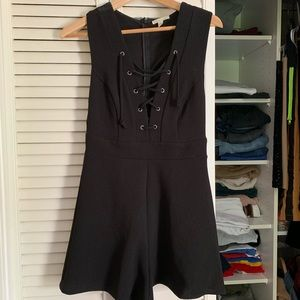 Urban Outfitters Lace Up Romper